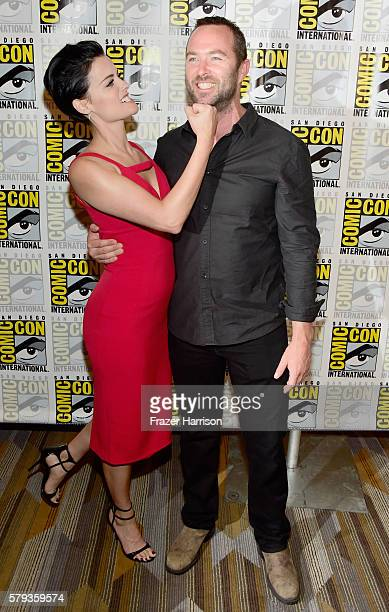 Actress Jaimie Alexander and actor Sullivan Stapleton attend the Blindspot Press Line during ComicCon International 2016 at Hilton Bayfront on July...