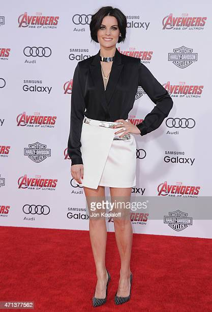 Actress Jaimie Alexander arrives at the Los Angeles Premiere Marvel's Avengers Age Of Ultron at Dolby Theatre on April 13 2015 in Hollywood California