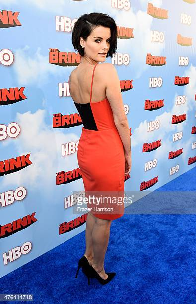 "Actress Jaimie Alexander arrives at the Premiere Of HBO's ""The Brink"" at Paramount Studios on June 8, 2015 in Hollywood, California."