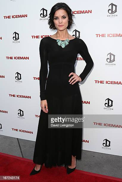 Actress Jaimie Alexander attends the Los Angeles special screening of Millennium Entertainment's The Iceman at ArcLight Hollywood on April 22 2013 in...