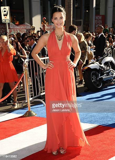 Actress Jaimie Alexander attends the premiere of Captain America The First Avenger at the El Capitan Theatre on July 19 2011 in Hollywood California