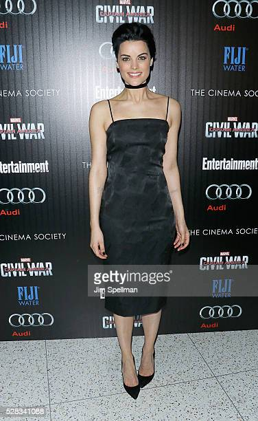 Actress Jaimie Alexander attends the screening of Marvel's 'Captain America Civil War' hosted by The Cinema Society with Audi FIJI at Brookfield...