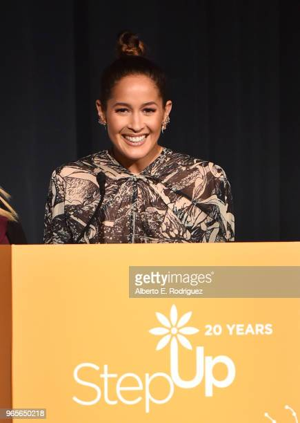 Actress Jaina Lee Ortiz on stage at Step Up's 14th Annual Inspiration Awards at the Beverly Wilshire Four Seasons Hotel on June 1 2018 in Beverly...