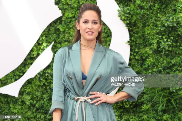 US actress Jaina Lee Ortiz poses during a photocall for the TV show Station 19 as part of the 59th MonteCarlo Television Festival on June 15 2019 in...