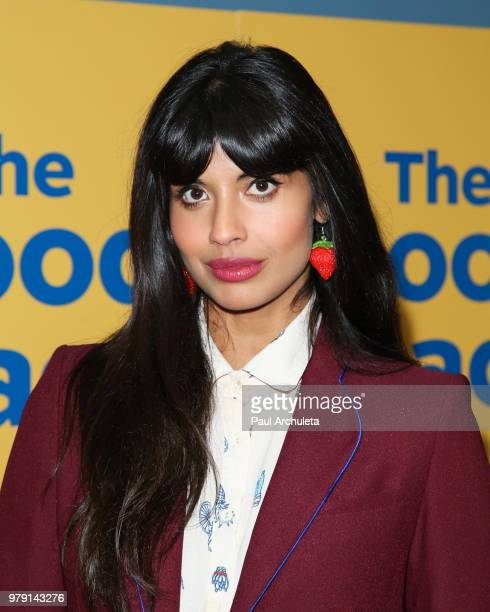 Actress Jameela Jamil attends the FYC screening of Universal Television's The Good Place at UCB Sunset Theater on June 19 2018 in Los Angeles...
