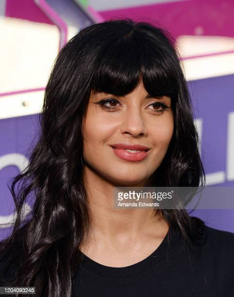 Actress Jameela Jamil attends the Jameela Jamil and Zumba SELFish Event at Casita Hollywood on February 04 2020 in Los Angeles California