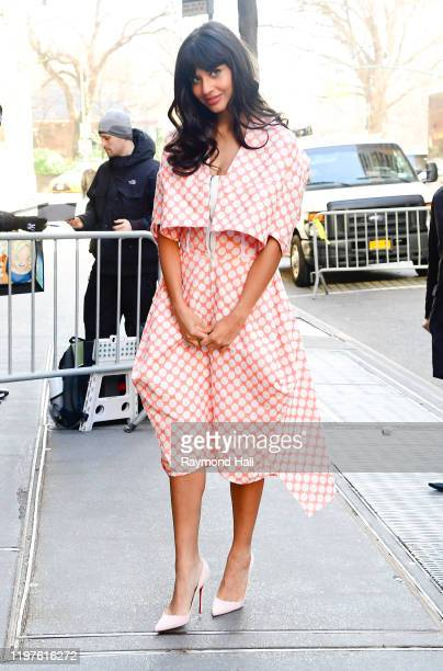 Actress Jameela Jamil is seen outside The View on January 30 2020 in New York City
