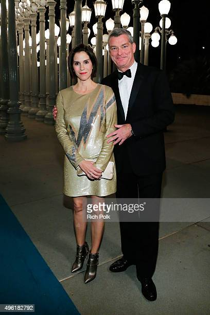Actress Jami Gertz and LACMA trustee Tony Ressler attend LACMA 2015 ArtFilm Gala Honoring James Turrell and Alejandro G Iñárritu Presented by Gucci...
