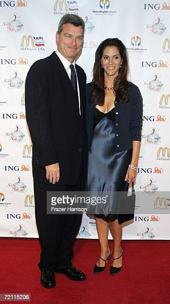 Actress Jami Gertz and Tony Resslerarrives at the 2nd Annual Noche De Ninos in aid of the Childrens Hospital Los Angeles honoring Johnny Depp at the...