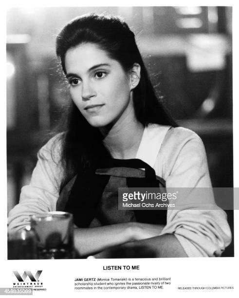Actress Jami Gertz on the set of the Columbia Pictures movie Listen to Me circa 1989