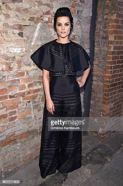 Actress Jamie Alexander attends the Christian Siriano fashion show during New York Fashion Week The Shows at ArtBeam on September 10 2016 in New York...