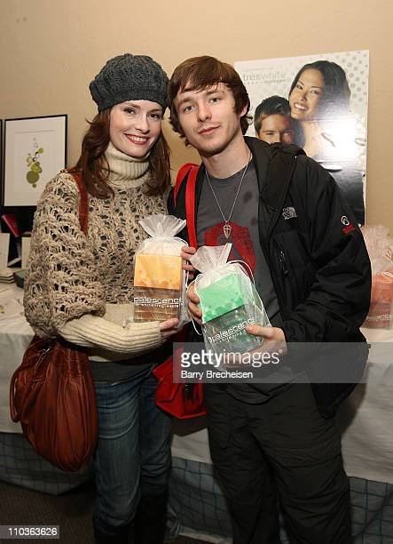Actress Jamie Allman and actor Marshall Allman visits the Kari Feinstein Sundance Style Lounge on January 19 2009 in Park City Utah
