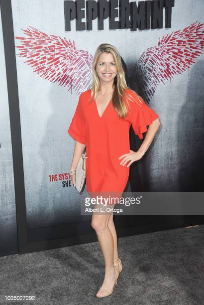 Actress Jamie Anderson arrives for the Premiere Of STX Entertainment's Peppermint held at Stadium 14 on August 28 2018 in Los Angeles California