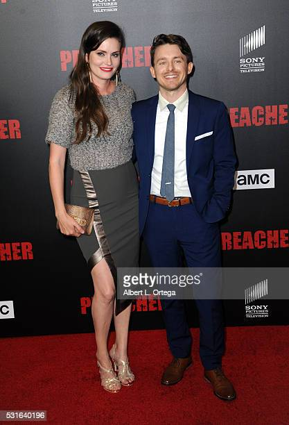 Actress Jamie Anne Allman and guest arrive for the Premiere Of AMC's Preacher held at Regal LA Live Stadium 14 on May 14 2016 in Los Angeles...