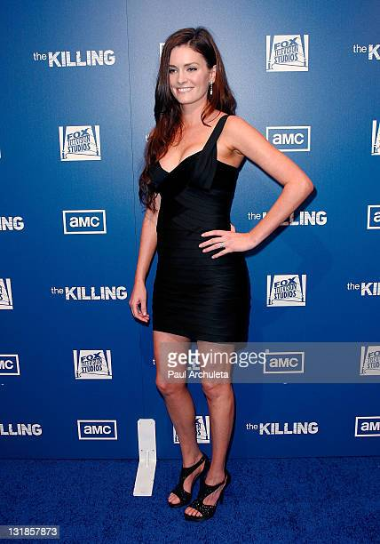 Actress Jamie Anne Allman arrives at the The Killing Los Angeles premiere at Harmony Gold Theatre on March 21 2011 in Los Angeles California