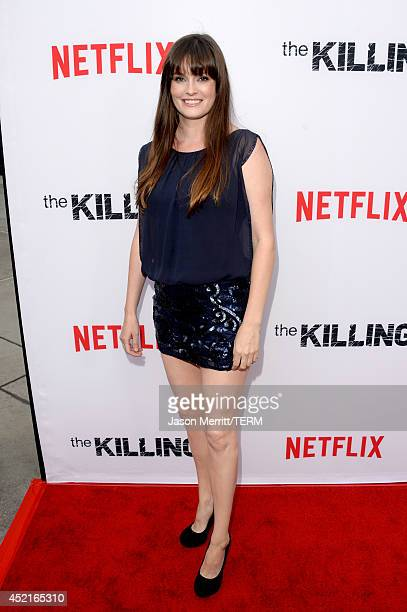 Actress Jamie Anne Allman attends premiere of Netflix's The Killing season 4 at ArcLight Cinemas on July 14 2014 in Hollywood California