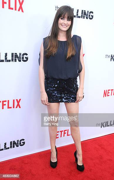 Actress Jamie Anne Allman attends the season 4 premiere of 'The Killing' on July 14 2014 at ArcLight Hollywood in Hollywood California