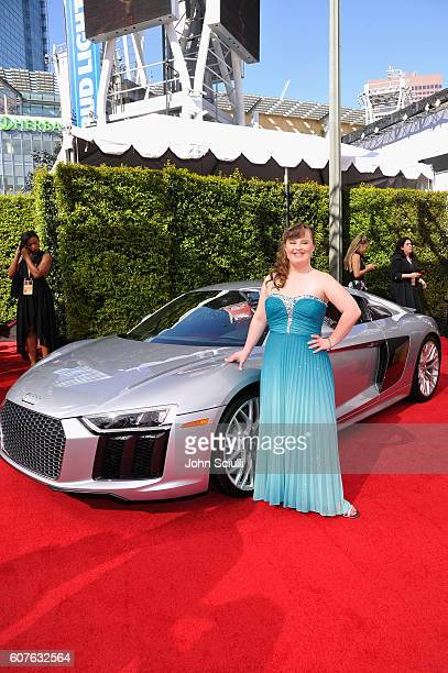 Actress Jamie Brewer and Audi at The 68th Emmy Awards on September 18 2016 in Los Angeles California