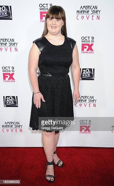 Actress Jamie Brewer arrives at the Los Angeles premiere of FX's 'American Horror Story Coven' at Pacific Design Center on October 5 2013 in West...