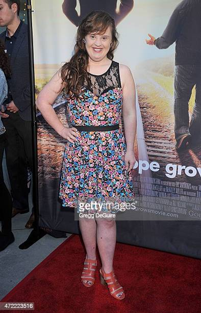 Actress Jamie Brewer arrives at the Los Angeles premiere of 'Where Hope Grows' at ArcLight Cinemas on May 4 2015 in Hollywood California
