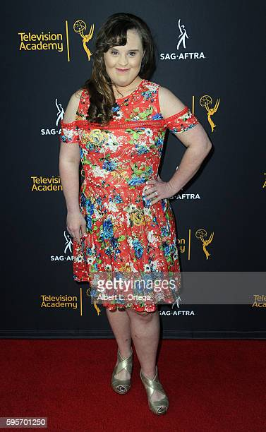 Actress Jamie Brewer arrives for the Television Academy And SAGAFTRA's 4th Annual Dynamic And Diverse Celebration held at Saban Media Center on...