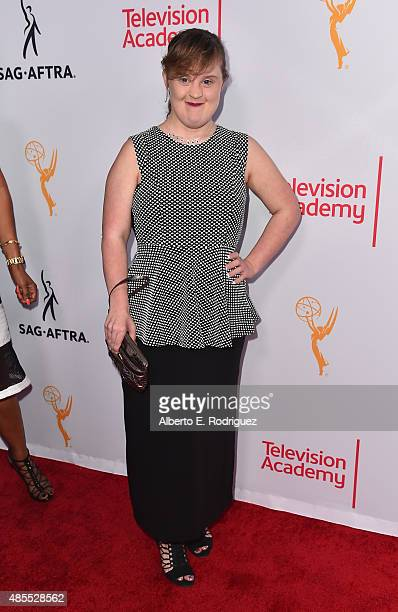 Actress Jamie Brewer attends a cocktail party celebrating dynamic and diverse nominees for the 67th Emmy Awards hosted by the Academy of Television...