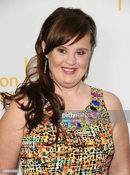 Actress Jamie Brewer attends an evening with the women of 'American Horror Story' at The Montalban on March 17 2015 in Hollywood California