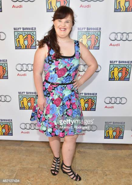 Actress Jamie Brewer attends the 4th Annual Team Maria Benefit In Support of Best Buddies at Montage Beverly Hills on July 13 2014 in Beverly Hills...