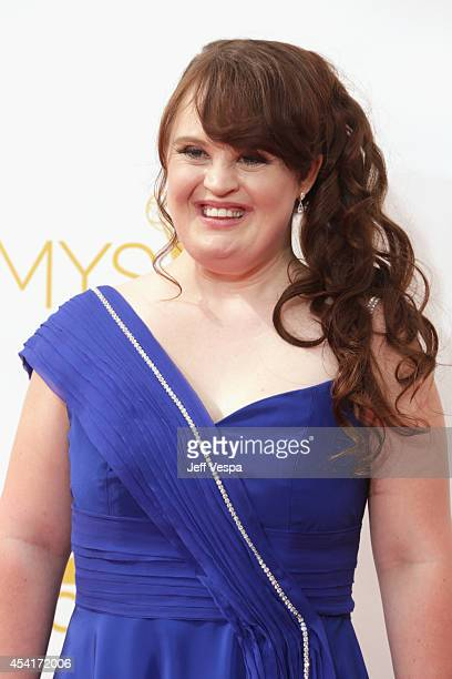 Actress Jamie Brewer attends the 66th Annual Primetime Emmy Awards held at Nokia Theatre LA Live on August 25 2014 in Los Angeles California