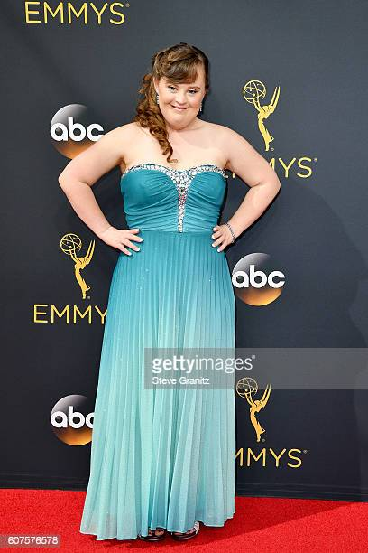 Actress Jamie Brewer attends the 68th Annual Primetime Emmy Awards at Microsoft Theater on September 18 2016 in Los Angeles California