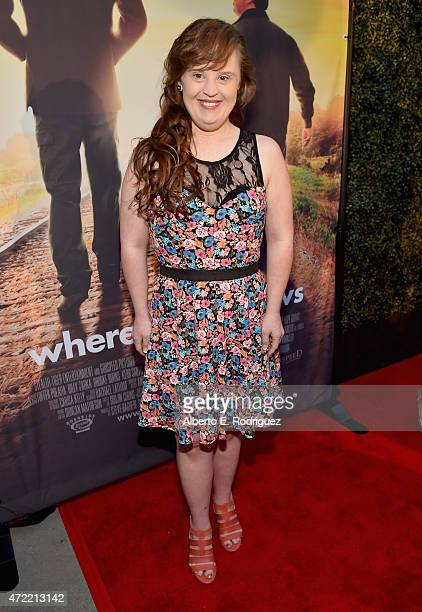 Actress Jamie Brewer attends the premiere of Roadside Attractions' Godspeed Pictures' 'Where Hope Grows' at The ArcLight Cinemas on May 4 2015 in...