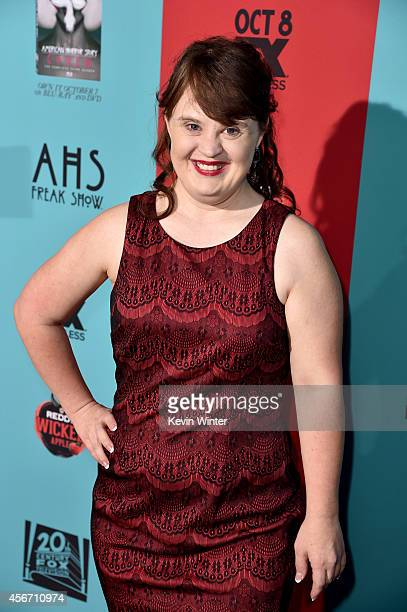 Actress Jamie Brewer attends the premiere screening of FX's 'American Horror Story Freak Show' at TCL Chinese Theatre on October 5 2014 in Hollywood...