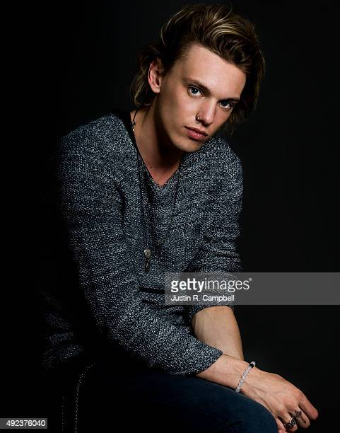 Actress Jamie Campbell Bower is photographed for Just Jared on August 9 2013 in Los Angeles California
