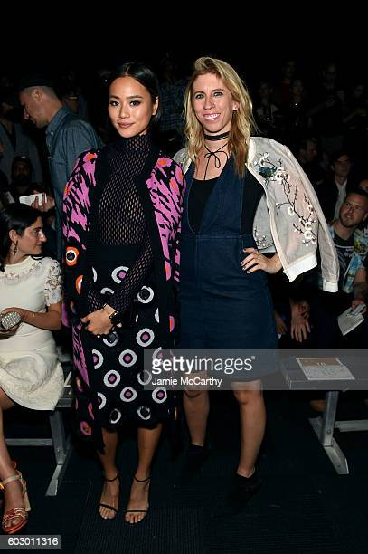 Actress Jamie Chung and Ali Lasky attend the Opening Ceremony fashion show Front Row during New York Fashion Week at Jacob Javits Center on September...