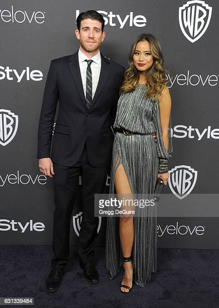 Actress Jamie Chung and husband Bryan Greenberg arrive at the 18th Annual PostGolden Globes Party hosted by Warner Bros Pictures and InStyle at The...