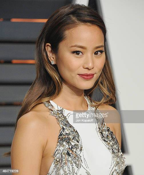 Actress Jamie Chung arrives at the 2015 Vanity Fair Oscar Party Hosted By Graydon Carter at Wallis Annenberg Center for the Performing Arts on...