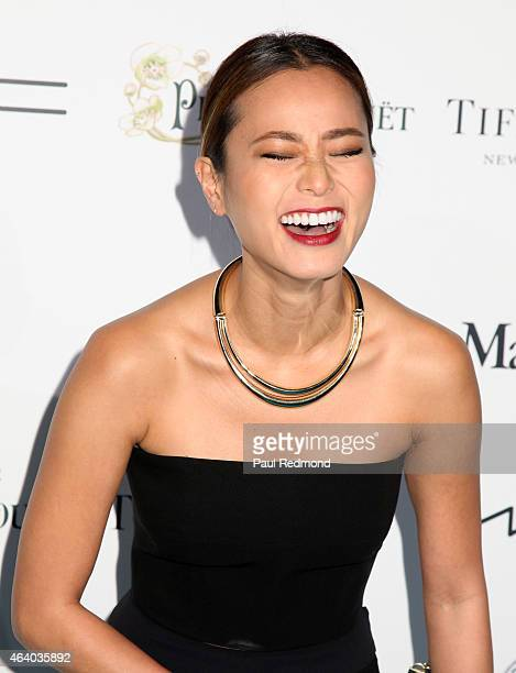 Actress Jamie Chung arrives at the 8th Annual Women In Film PreOscar Cocktail Party at HYDE Sunset Kitchen Cocktails on February 20 2015 in West...