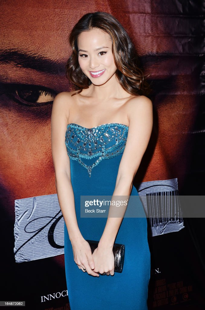 Actress Jamie Chung arrives at the Los Angeles premiere of 'Eden' at Laemmle Music Hall on March 28, 2013 in Beverly Hills, California.