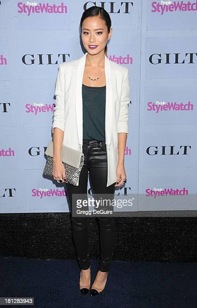 Actress Jamie Chung arrives at the People StyleWatch Denim party at Palihouse on September 19 2013 in West Hollywood California