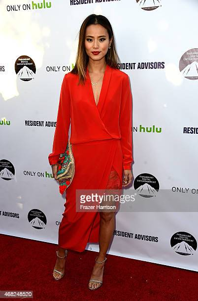 Actress Jamie Chung arrives at the Premiere Of Paramount and Hulu's 'Resident Advisors' at Sherry Lansing Theatre at Paramount Studios on March 31...