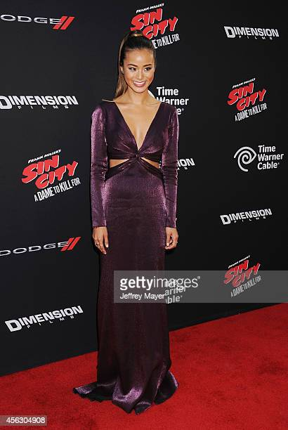 Actress Jamie Chung arrives at the 'Sin City A Dame To Kill For' Los Angeles Premiere at TCL Chinese Theatre on August 19 2014 in Hollywood California