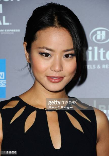 Actress Jamie Chung arrives to the 2010 American Express Tribeca Film Festival LA Reception at The Beverly Hilton Hotel on March 19 2012 in Beverly...