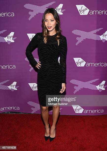 Actress Jamie Chung attend the Virgin America Dallas Love Field Launch Celebration at the House of Blues on October 13 2014 in Dallas Texas