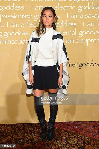 Actress Jamie Chung attends Alice + Olivia By Stacey Bendet Spring 2016 during New York Fashion Week: The Shows at The Gallery, Skylight at Clarkson...