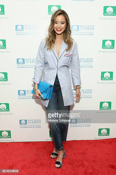 Actress Jamie Chung attends Cotton Incorporated's celebration of 10 Years of the Blue Jeans Go Green denim recycling program with a popup gallery on...