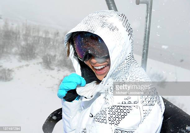 Actress Jamie Chung attends Day 2 of Oakley Learn to Ride Powered by ATT and the League of Super Fast Things on January 21 2012 in Park City Utah