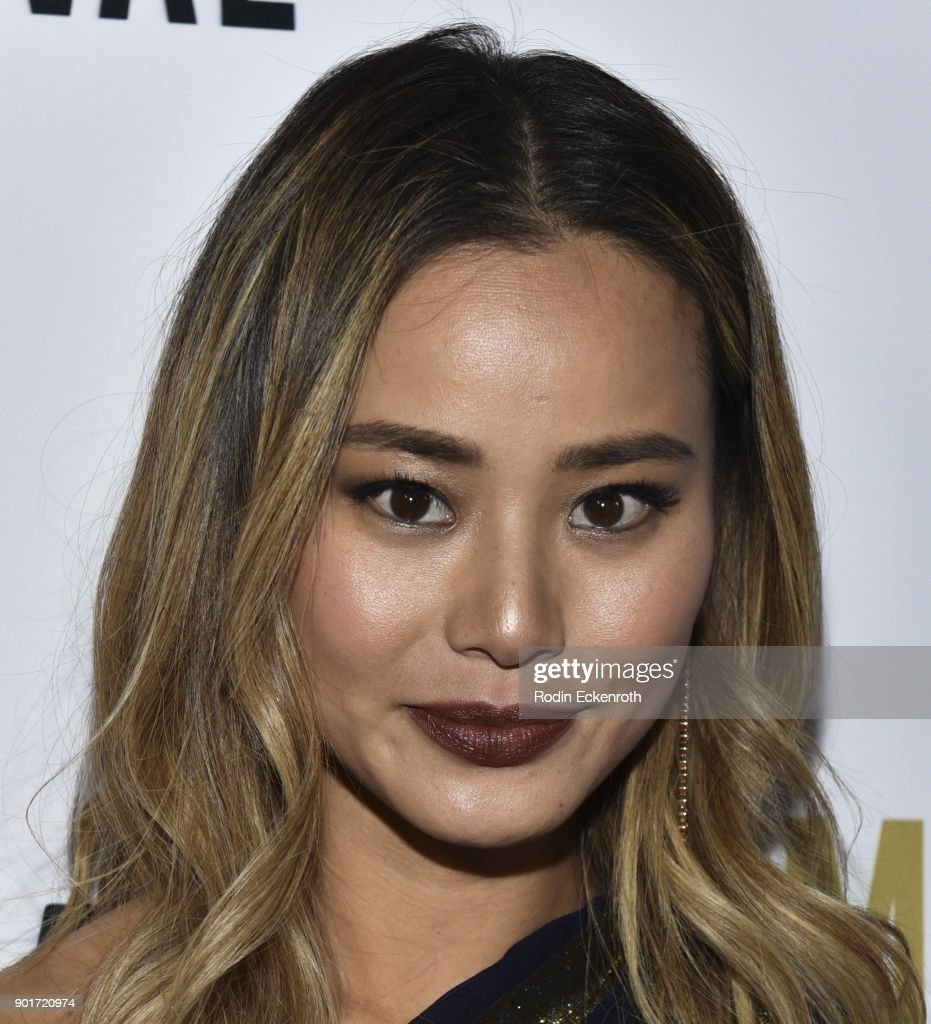 Actress Jamie Chung attends Moet and Chandon Celebrates 3rd Annual Moet Moment Film Festival and kick off of Golden Globes Week at Poppy on January 5, 2018 in Los Angeles, California.