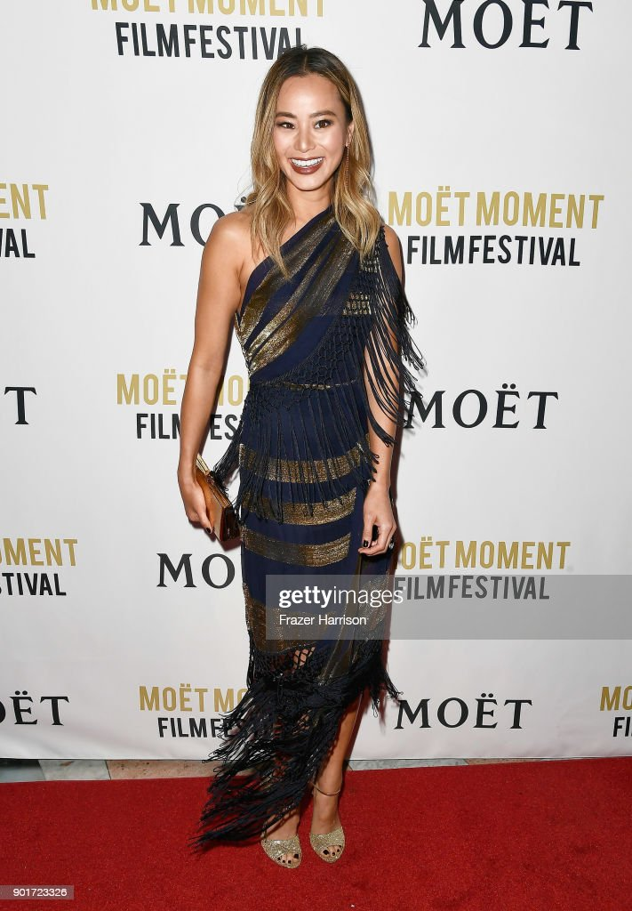 Actress Jamie Chung attends Moet & Chandon Celebrates 3rd Annual Moet Moment Film Festival and Kick Off of Golden Globes Week at Poppy on January 5, 2018 in Los Angeles, California.
