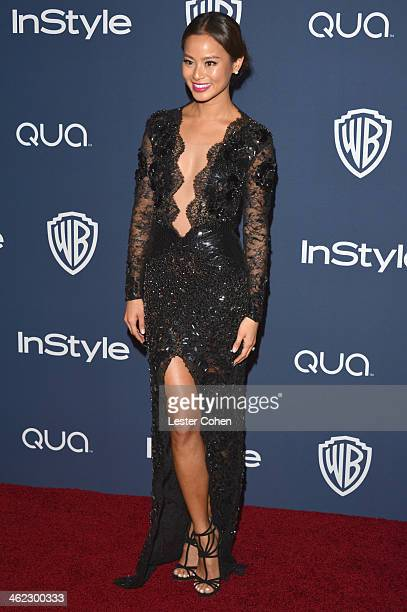 Actress Jamie Chung attends the 2014 InStyle And Warner Bros 71st Annual Golden Globe Awards PostParty held at The Beverly Hilton Hotel on January 12...