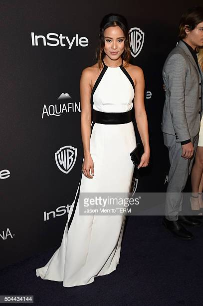 Actress Jamie Chung attends The 2016 InStyle And Warner Bros 73rd Annual Golden Globe Awards PostParty at The Beverly Hilton Hotel on January 10 2016...